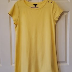 🎀Talbots Yellow T-shirt dress